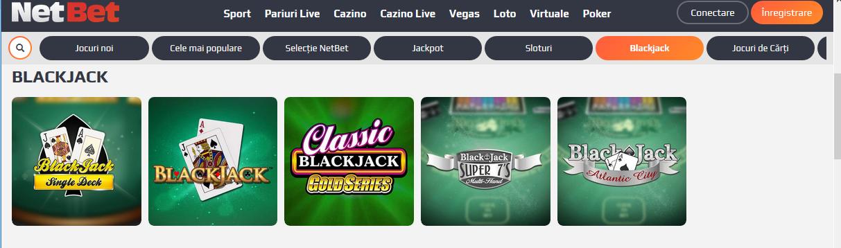 joc de cărți 21 blackjack