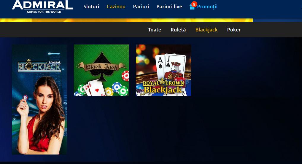 variante de blackjack la admiral